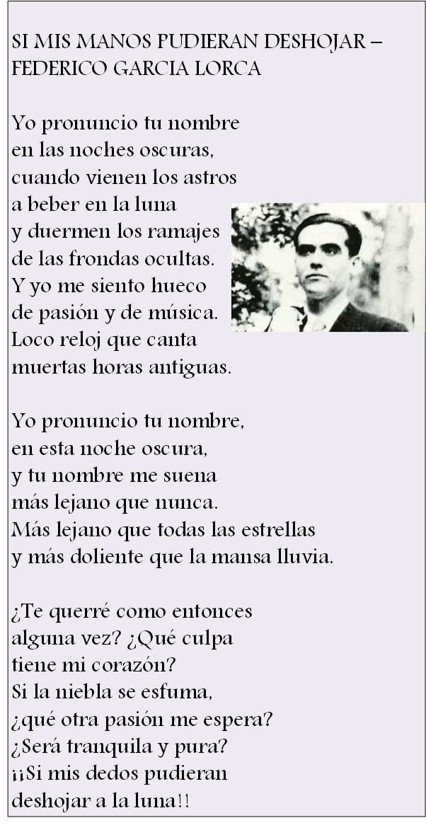 Federico García Lorca Garcia Lorca Poemas Federico