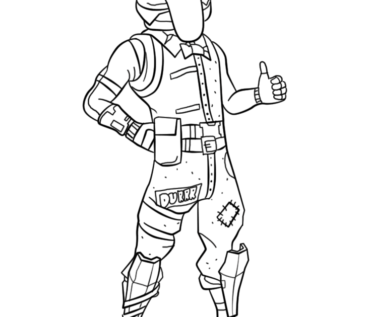 Fortnite Coloring Pages Ghoul Trooper on a budget