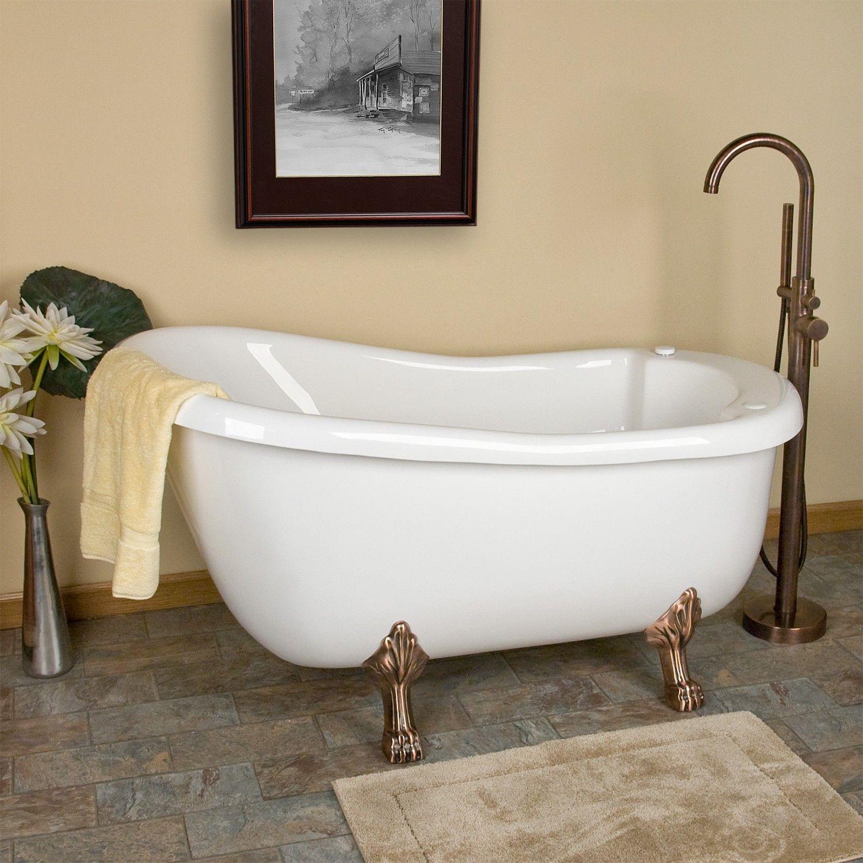 Pearson Acrylic Clawfoot Whirlpool Tub | Tubs, Bath tubs and Solid brass