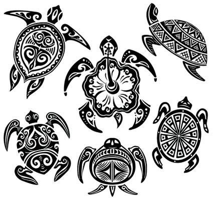 Hawaiian Turtle Car Stickers Hawaiian Tattoo Tribal Turtle Tattoos Turtle Tattoo