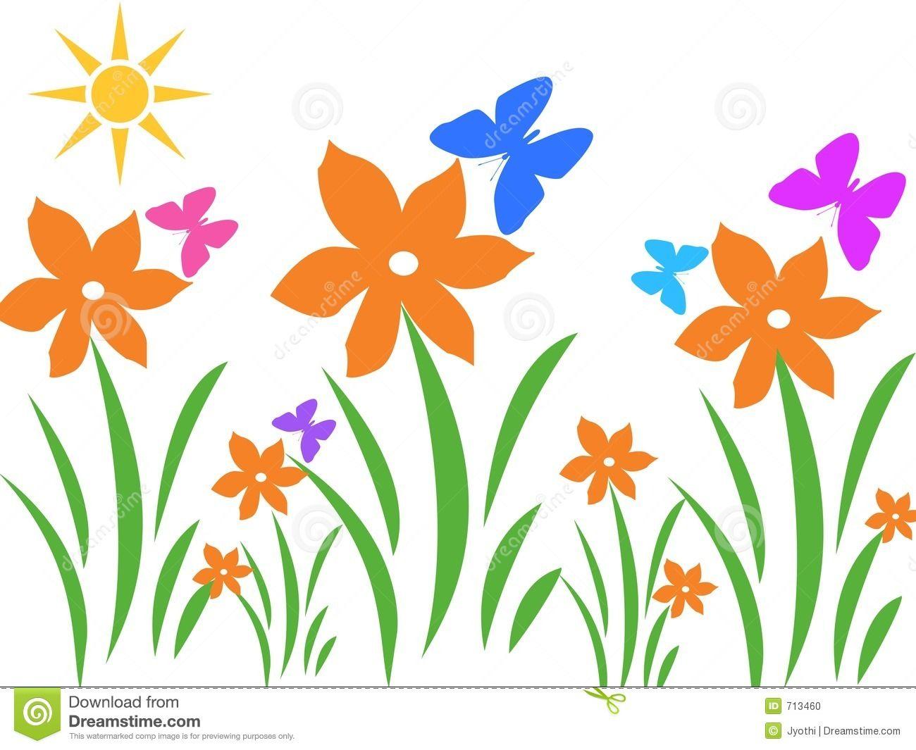 summer flowers clip art free stock photo sunny scene easter
