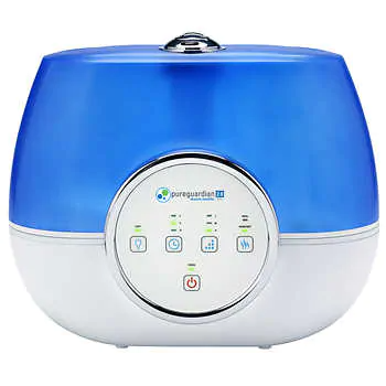 PureGuardian Ultrasonic Cool Mist Humidifier BlueWhite