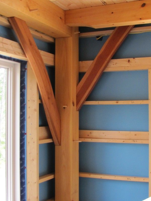 DB PLus, a vapor permeable air barrier on the inside of a timber ...