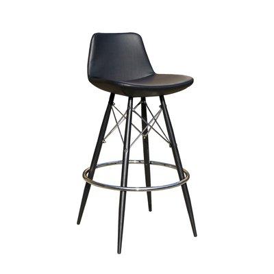 24 Bar Stool Upholstery Black In 2020 Bar Stools 24 Bar Stools Modern Chairs