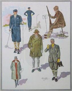 Winter sports 1932 men's fashion forecast Apparel Arts