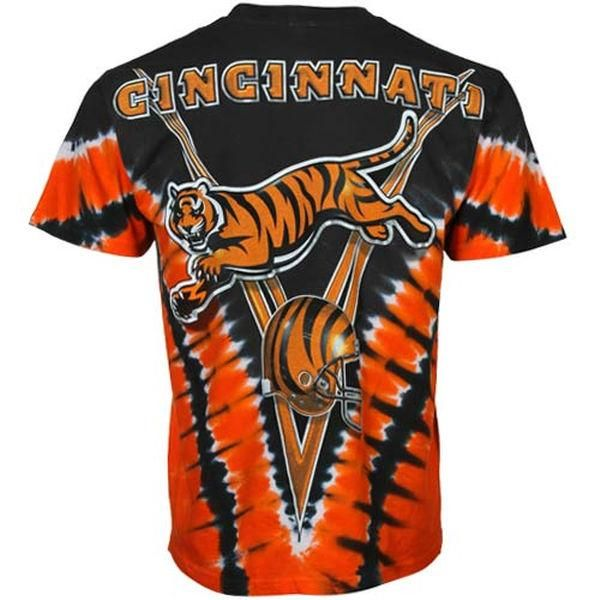 0570efbe Show some love for the Cincinnati Bengals with this glorious Majestic V Tie-Dye  T-shirt! - Regular Fit: Not too slim, not too loose.