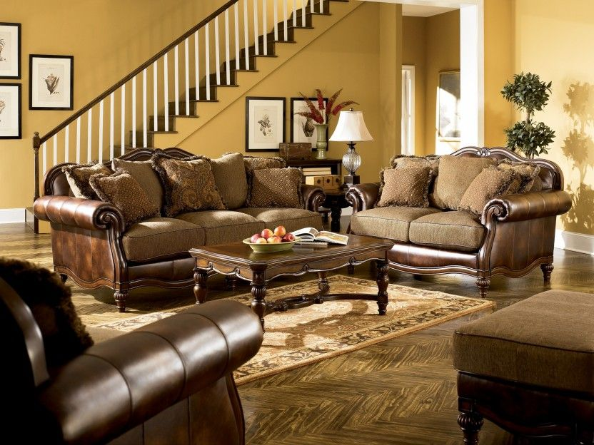 claremore antique sofa collection by ashley furniture my haven rh pinterest com