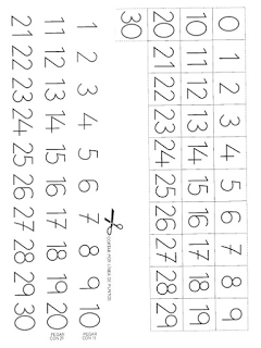 Aprender Es Divertido Fichas Para Imprimir Números Del 1 Al 30 Matemáticas Para Guardería Enseñar A Leer Fichas