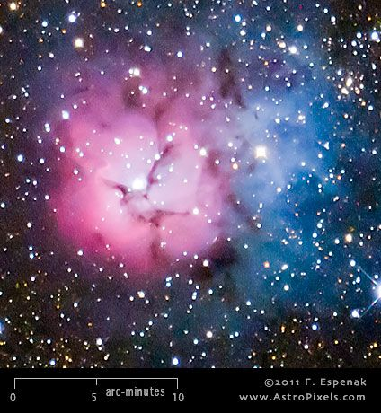 M20 (also designated NGC 6514) is a nebula and star cluster