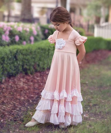 f424352972 trish scully child loving this Pink   White Greta Maxi Dress - Toddler    Girls on  zulily!  zulilyfinds