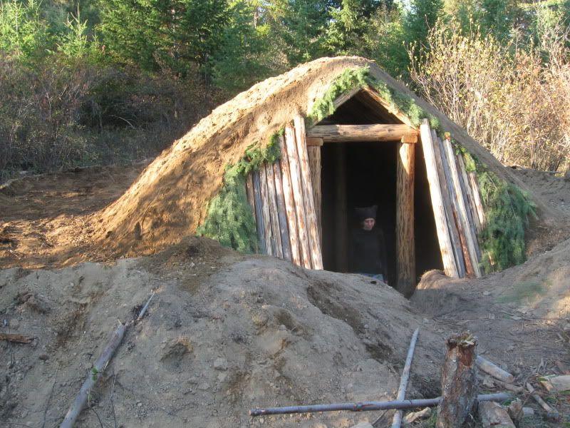 Hybrid Pithouse Build Outdoor Survival Kit Bushcraft Diy Camping