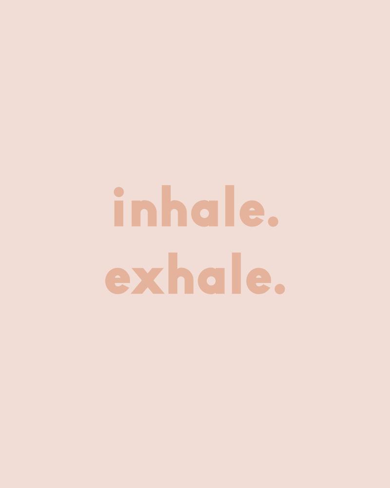 inhale exhale - blush Mini Art Print by Urban Wild Studio Supply - Without Stand - 3 x 4