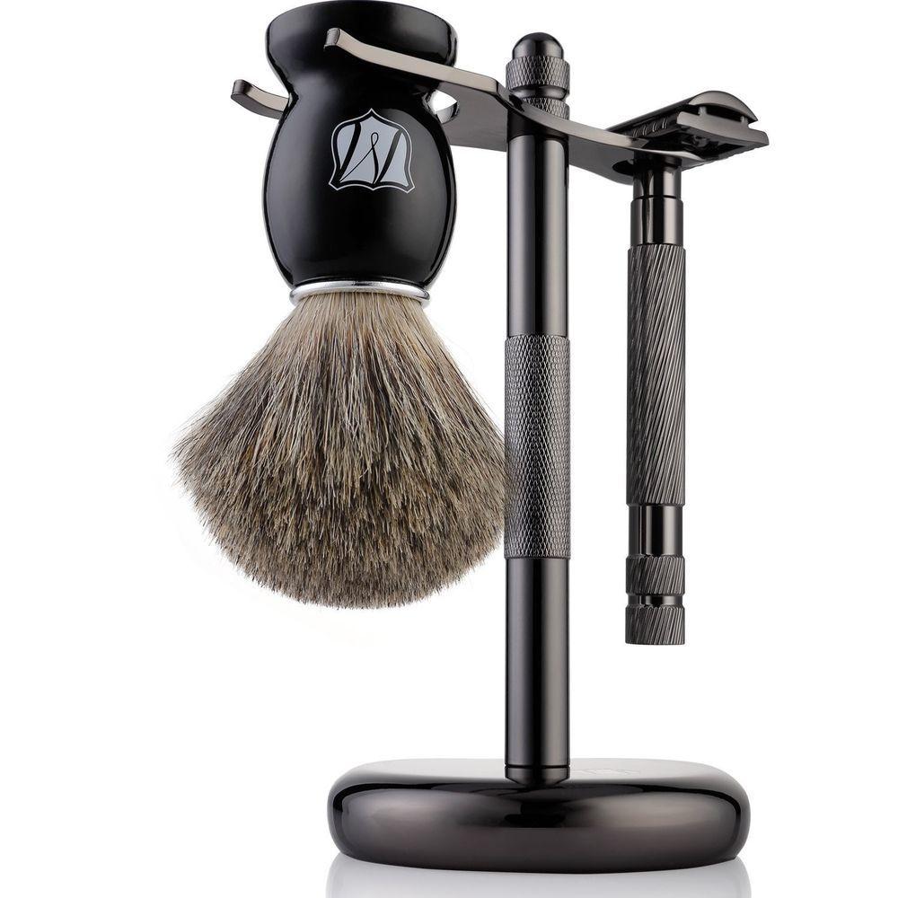 Miusco Men's Shaving Set, Safety Razor, Badger Hair