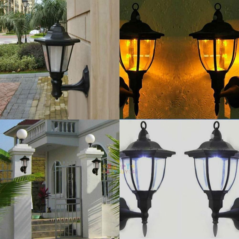 11 53 Solar Powered Led Wall Light Outdoor Path Landscape Garden Fence Mounted Lamp Ebay Home Garden Outdoor Wall Lighting Wall Mounted Lamps Led Wall Lights