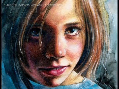 Watercolor Portrait Time Lapse Speed Paint By Ch Karron Youtube