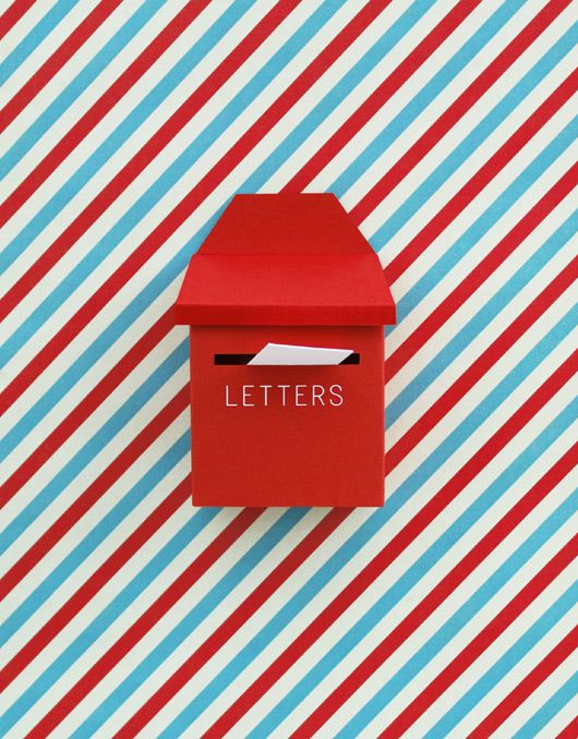 Tiny paper post box my style pinterest post box box and mail tiny paper post box spiritdancerdesigns Image collections