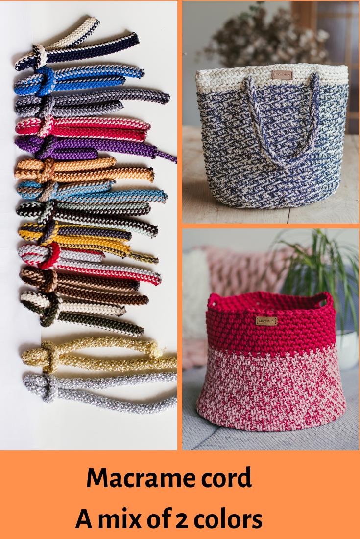 Macrame cord Macrame rope GANXXET COTTON AIR 3mm 5mm 6mm: Cotton rope Macrame cotton rope Bulky yarn,Braided cord,Crochet yarn