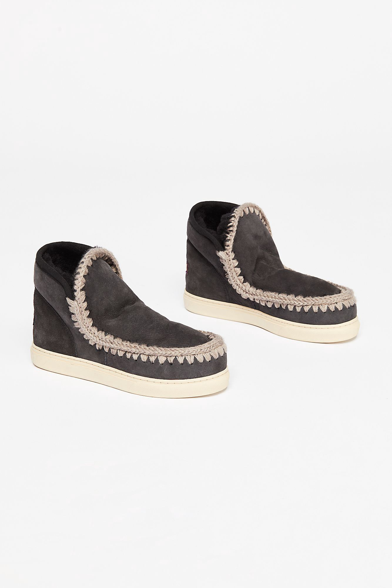Free People Mou Daybreak Sneaker Boot Off Black 36 Euro