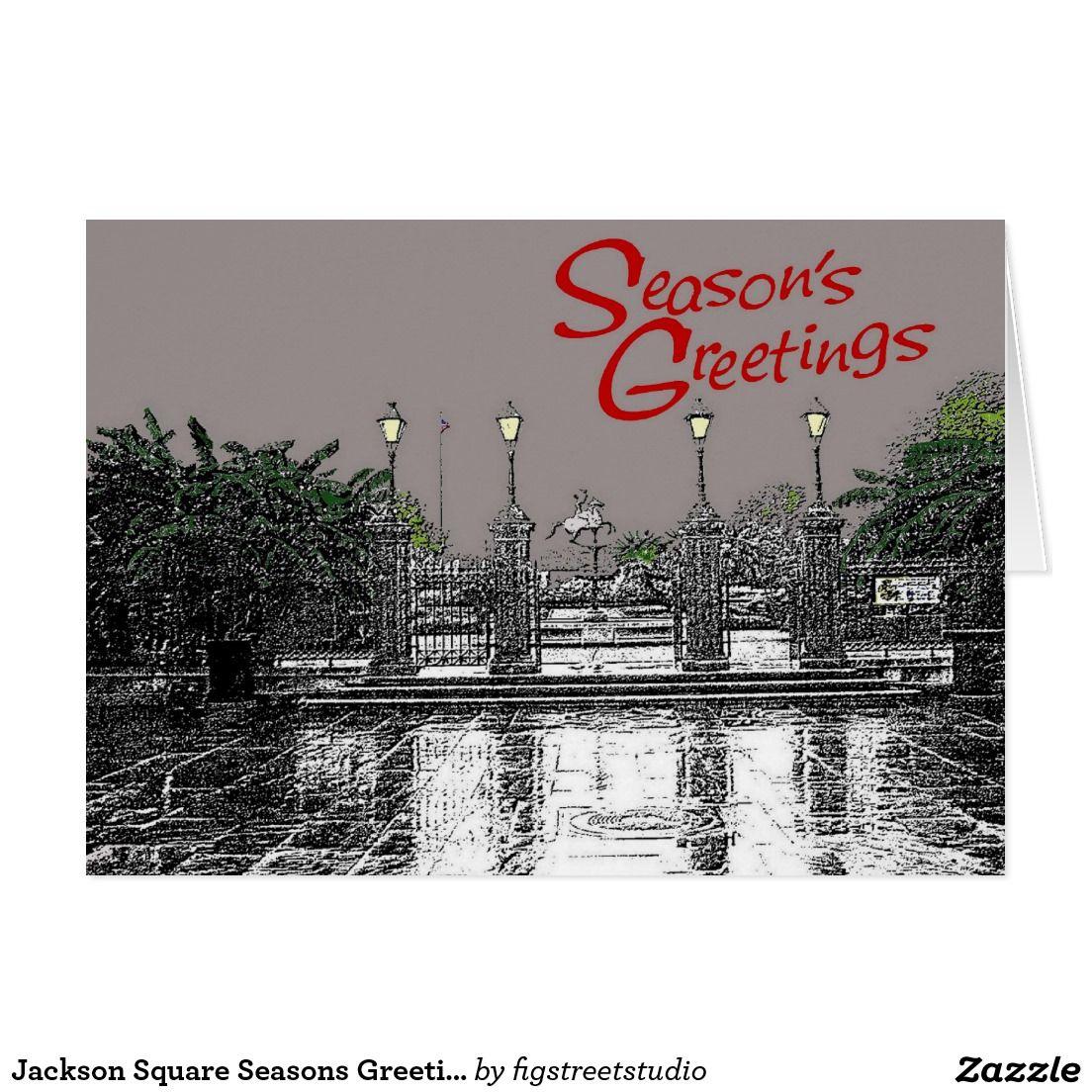 Jackson Square Seasons Greetings Three Card Jackson Squares And Third