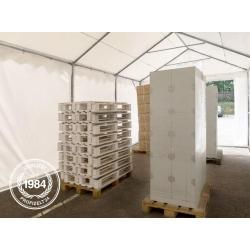 Photo of Storage tent 4×18 m – 2.6 m side height, Pvc 550 g / m², with bottom frame shelter, toolport storage