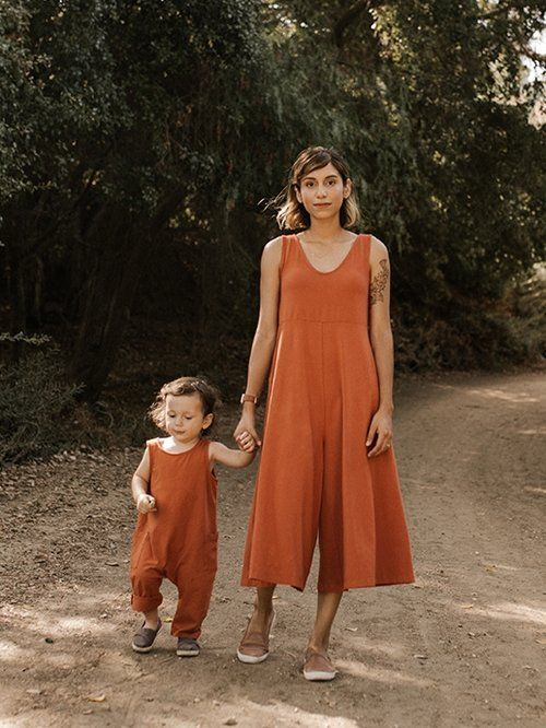 Mien Studios Lakeside Wide Leg Jumpsuit In Terracotta Model Rebekkah Cefai And Son Organic Clothing Brands Organic Clothing Women Organic Clothes Women