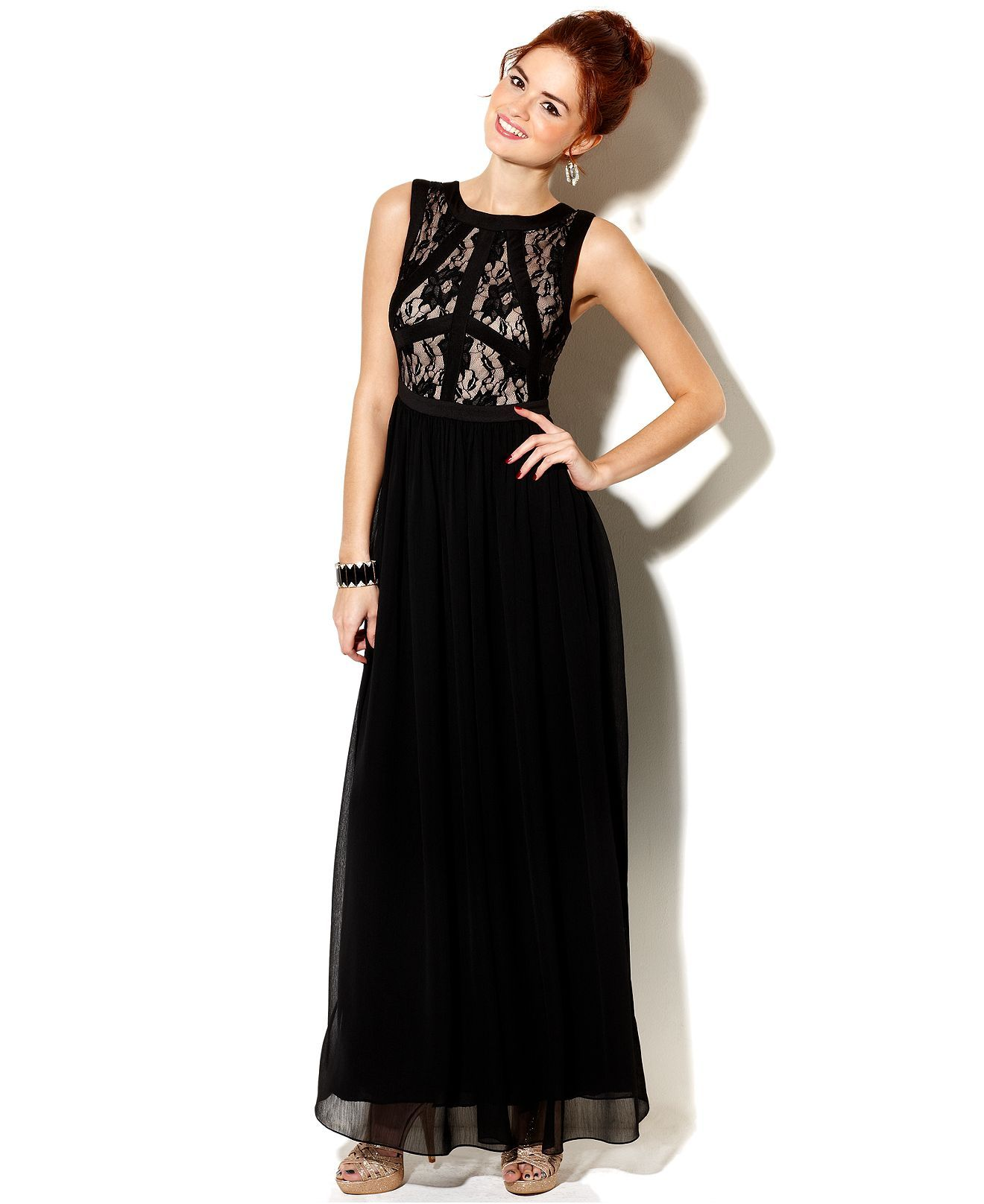 Rampage juniors dress sleeveless lace gown topshoppromqueen a