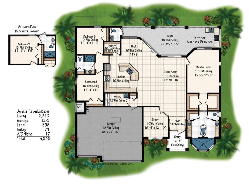The Diamond Floorplan From Coral Isle Builders Cape Coral Home Builders Capecroalhomebuilder Floorplan Homedes Home Builders New Home Builders Cape Coral