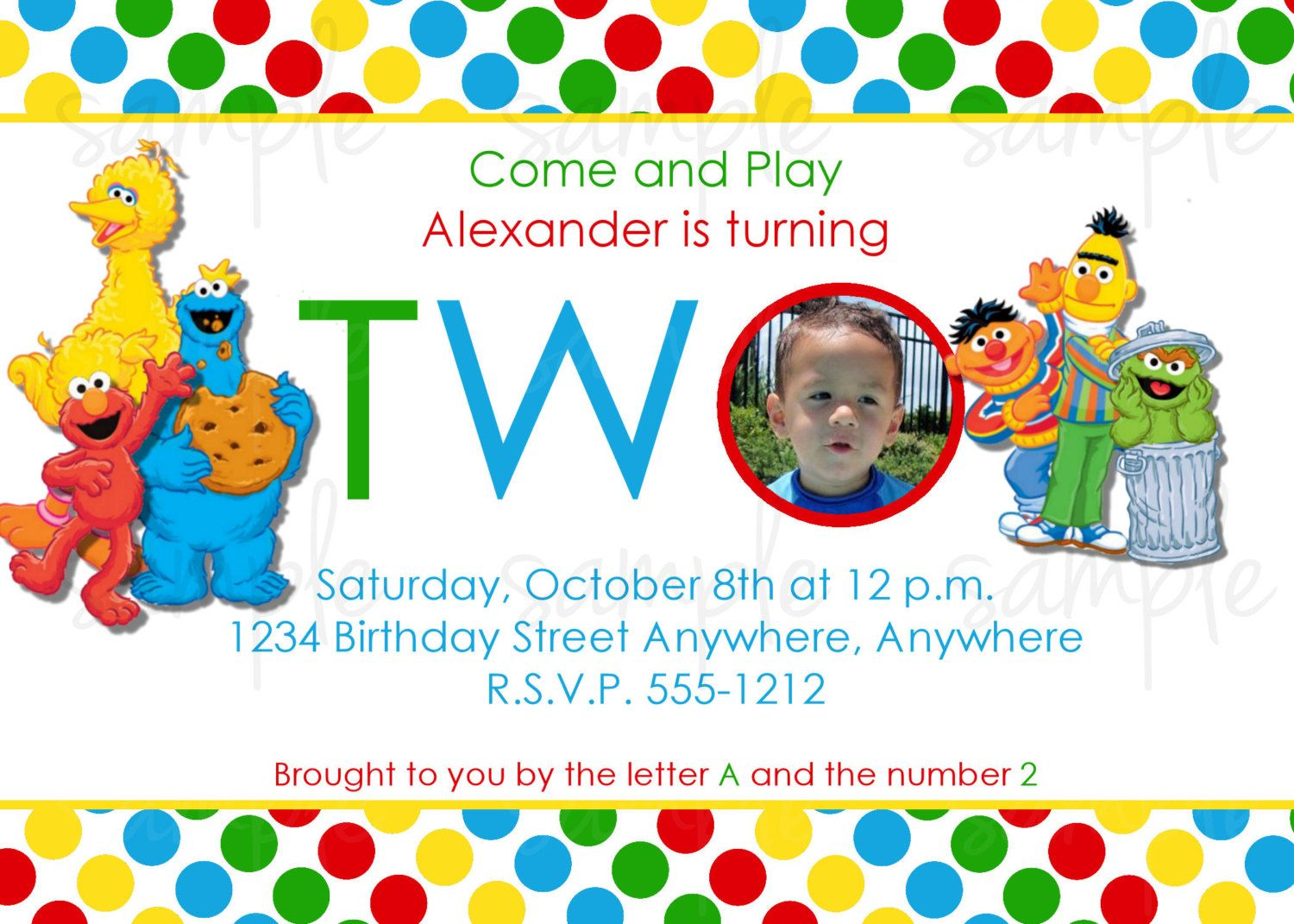 Sesame Street Birthday Invitation For Twins Free Download For Your