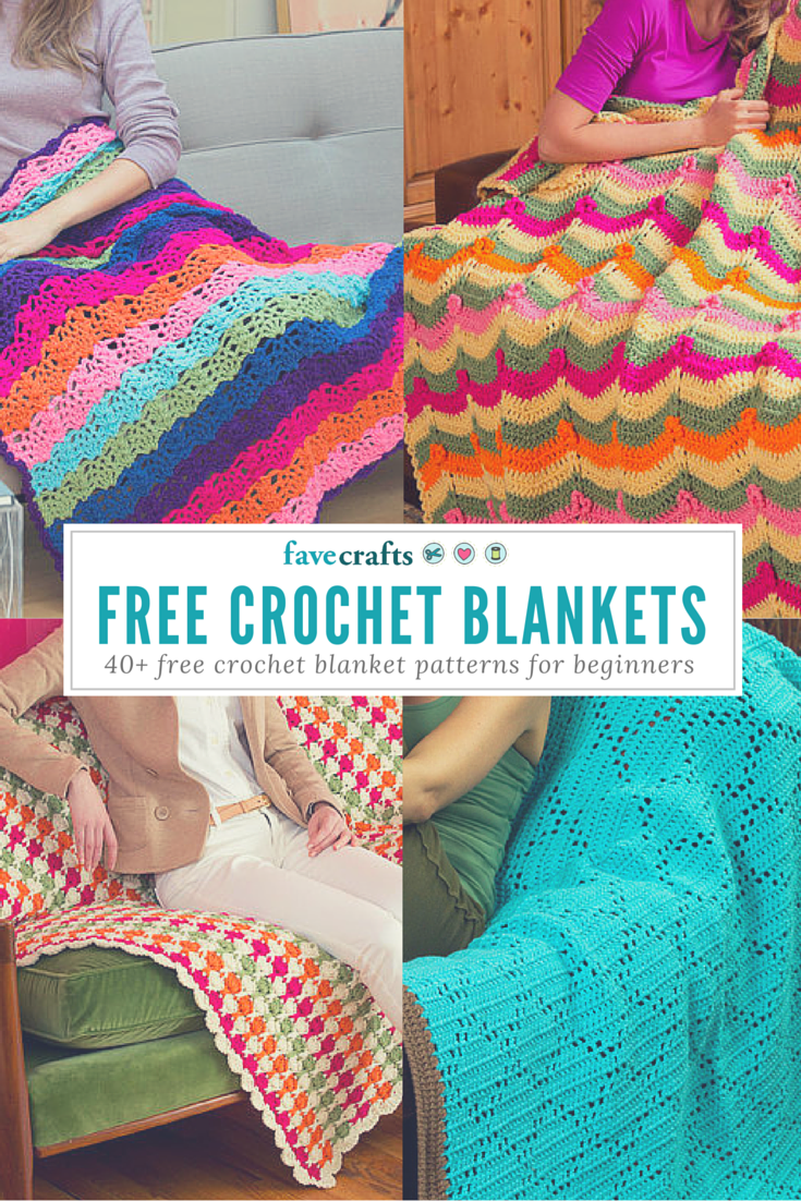 51 Free Crochet Blanket Patterns for Beginners | Crochet blankets ...