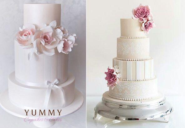 Pink cake romantic classy cake