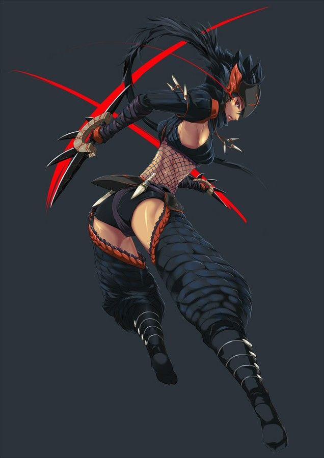 Monster Hunter Nargacuga armor soldier Monster