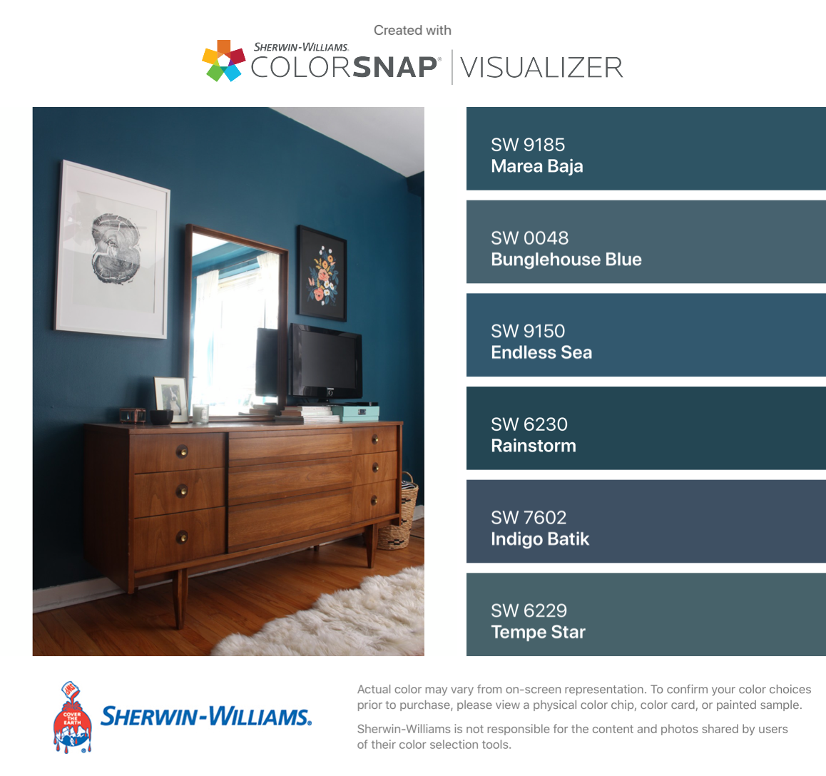 I Found These Colors With Colorsnap Visualizer For Iphone By Sherwin Williams Marea Baja Blue Master Bedroom Dining Room Paint Colors Paint Colors For Home