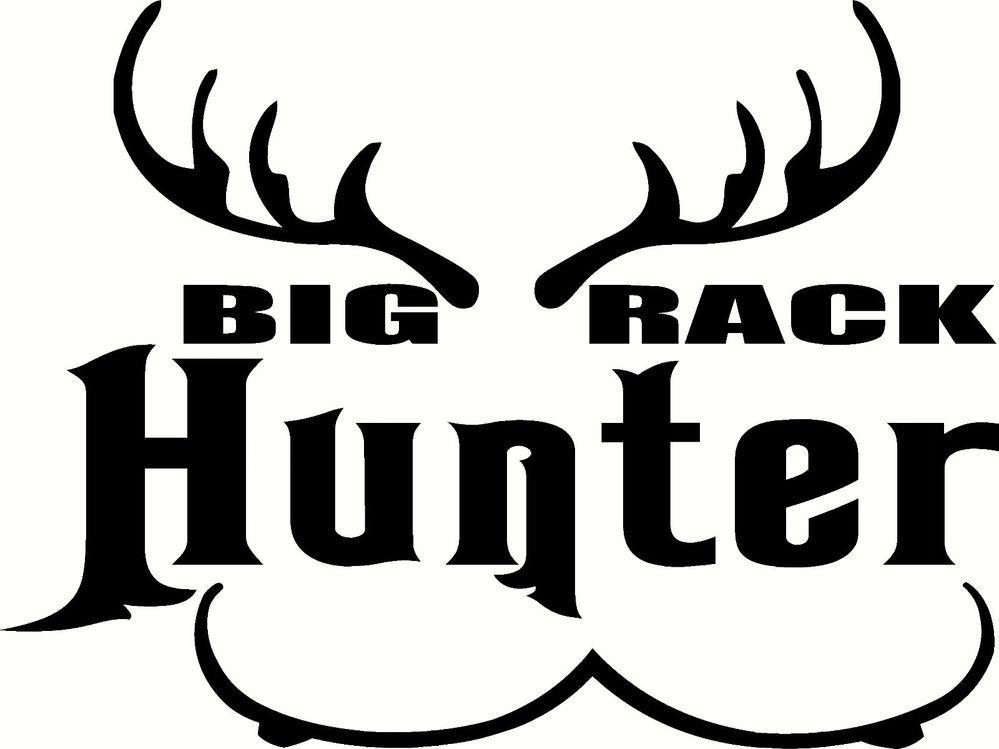 Big Rack Hunter Decal Auto Window Water Bottle Atv Graphic