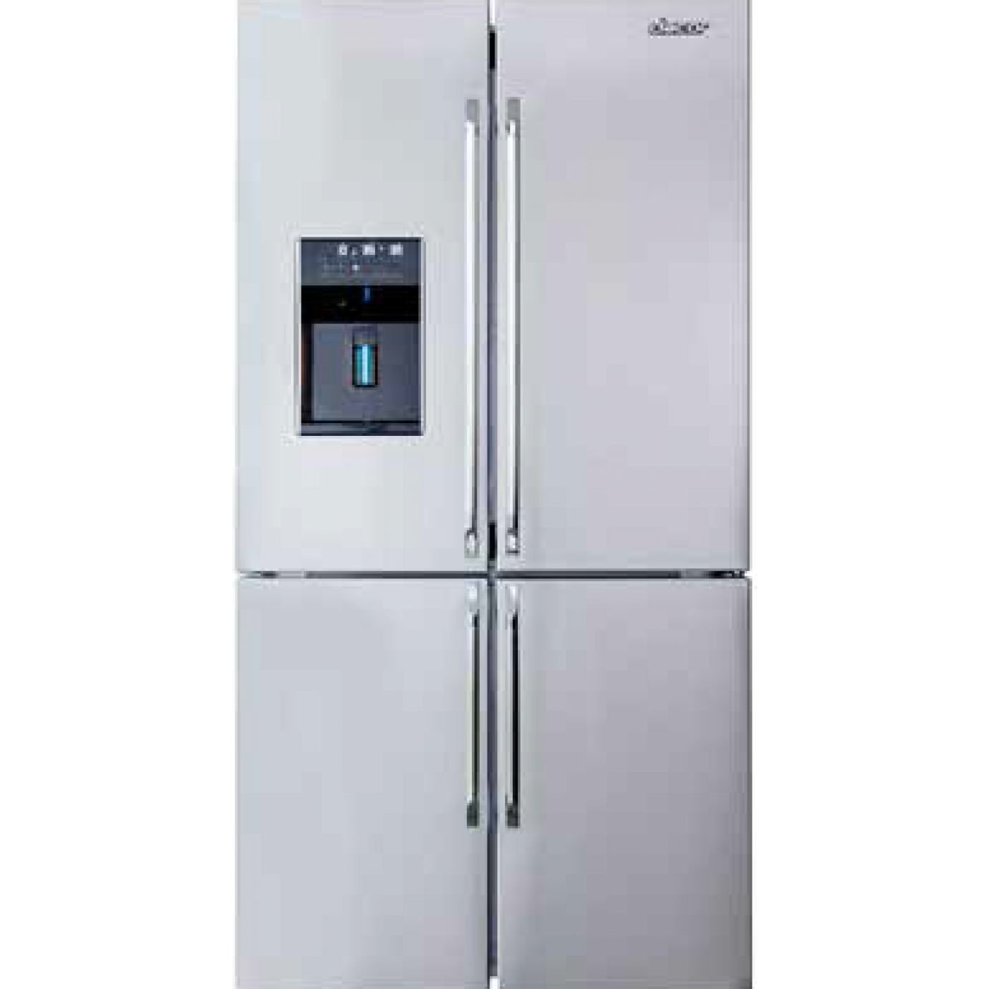 Distinctive 23 4 Cu Ft Stainless Steel French Door Refrigerator