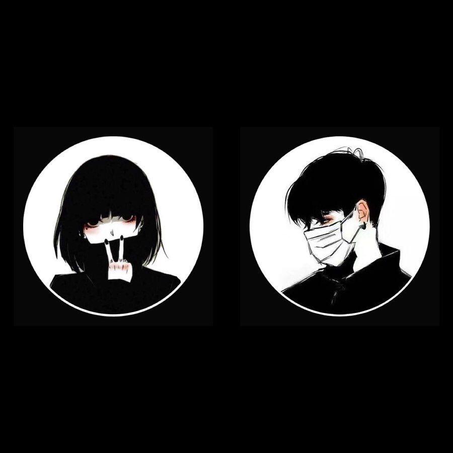 3 250 Likes 36 Comments افتار Otaku Az0 On Instagram طقم أسود فخم Cute Couple Wallpaper Best Friends Cartoon Cute Profile Pictures