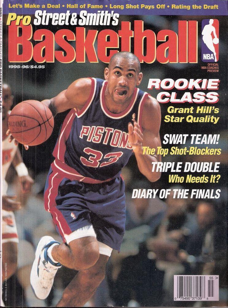 1995 96 street smiths pro basketball grant hill detroit