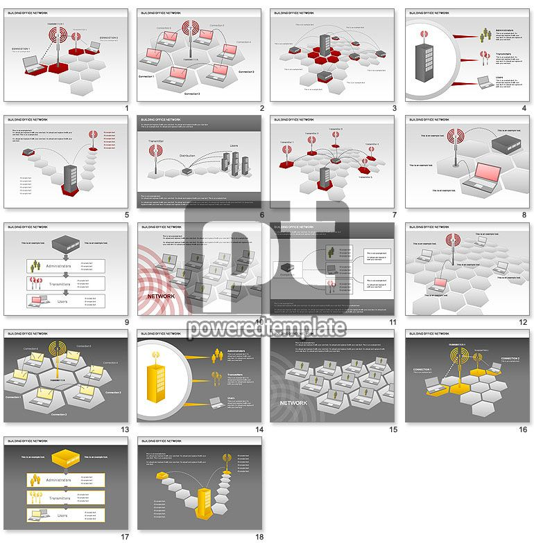Office Network Diagram for PowerPoint Presentations, Download Now - network diagram