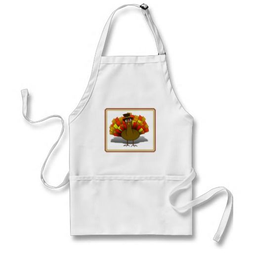 Thanksgiving Cartoon Turkey Pilgrim Aprons