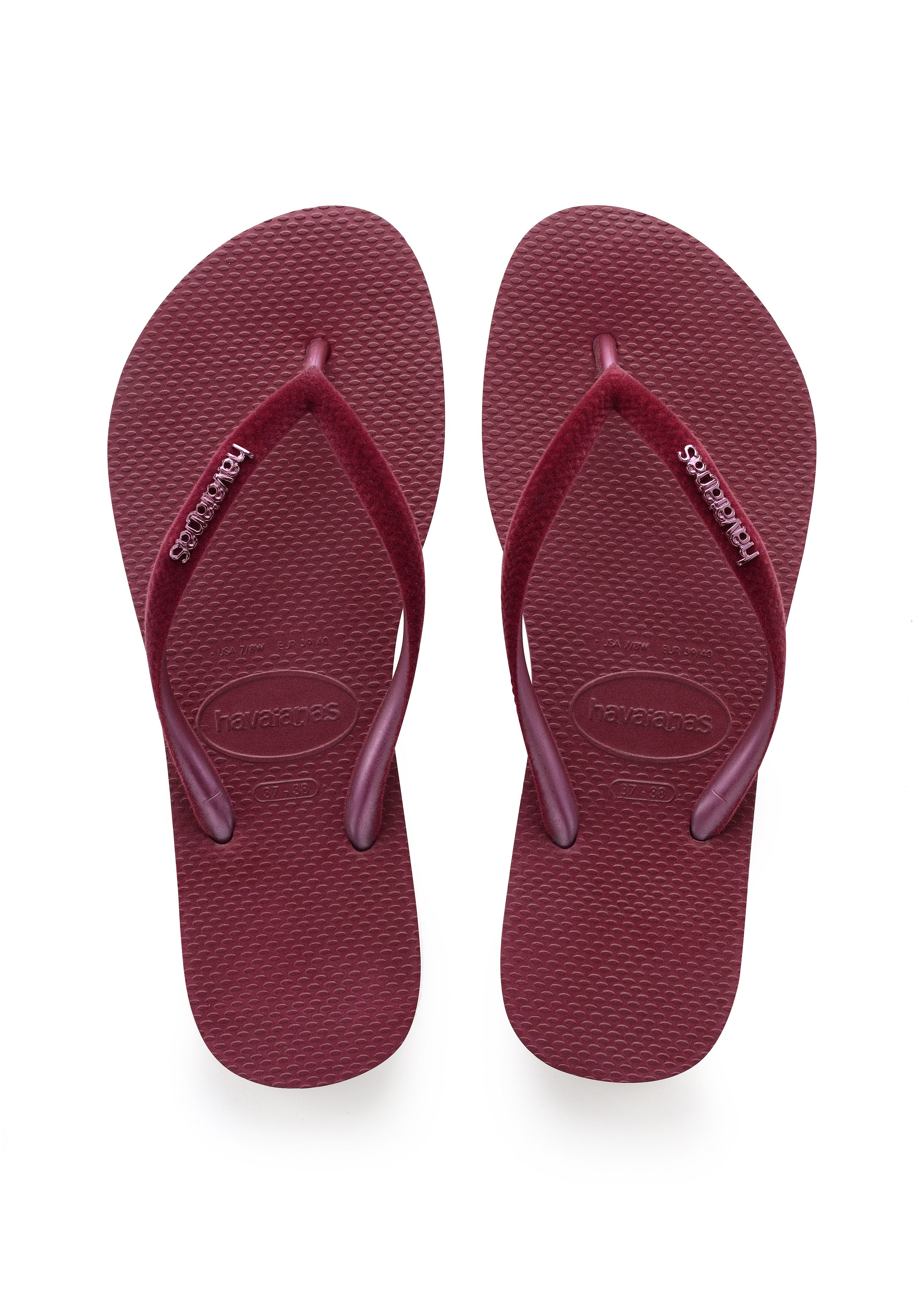 df1ee3295fb11c Havaianas Slim Velvet Sandal Beet Price From  £23.83
