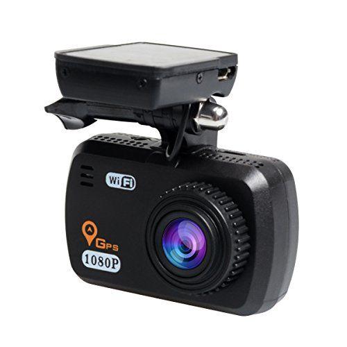 TOGUARD GPS WIFI 1080P Camera Dual Lens Car DVR Vehicle Camera Recorder Dash Cam