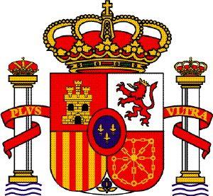escudo y bandera de espana para colorear