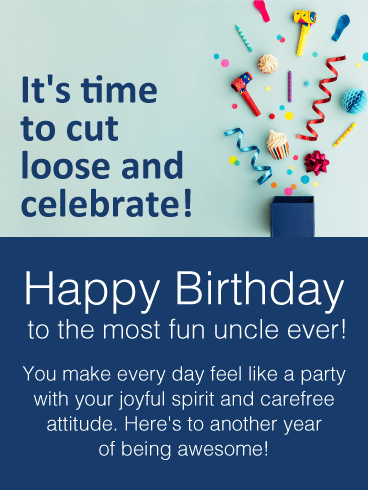 Send free time to celebrate happy birthday wishes card for uncle send free time to celebrate happy birthday wishes card for uncle to loved ones on birthday greeting cards by davia its 100 free and you also can use m4hsunfo