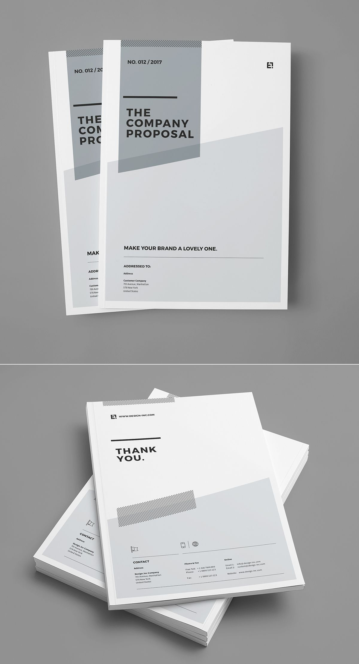 proposal and portfolio templateminimal and professional proposal brochure template for creative