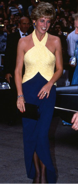 Princess Diana - This is a beautiful outfit on her. I don't know about those…
