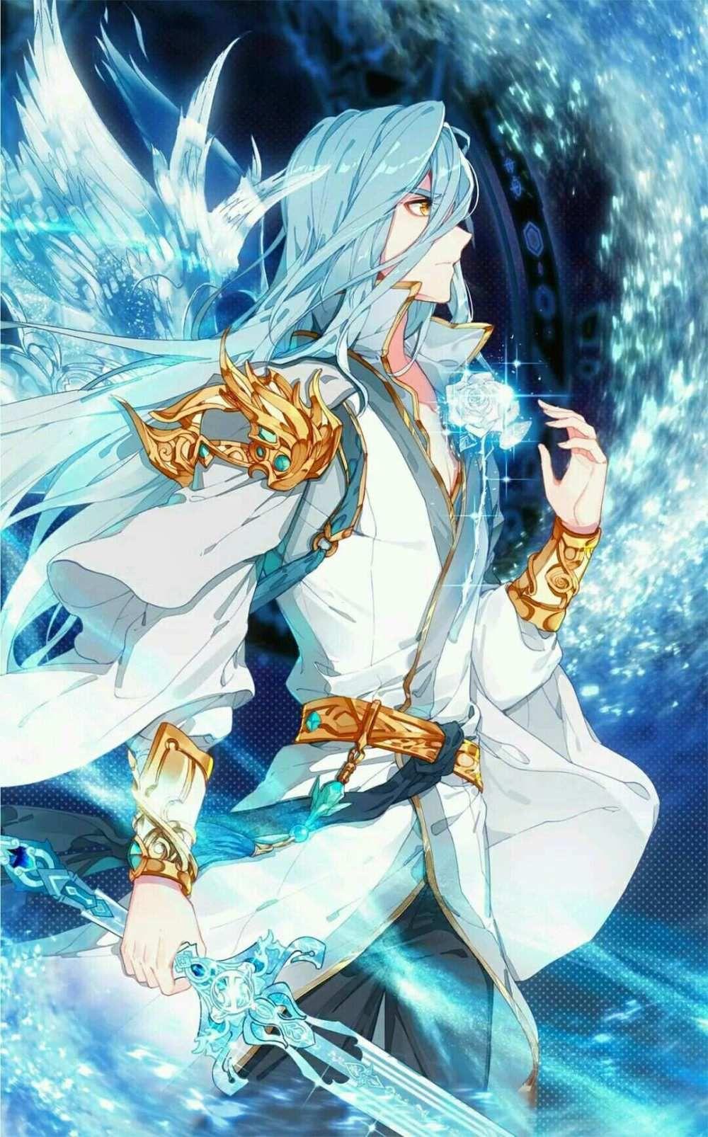 Soul Land 3 Wu Zhangkong Blue Anime Blue Hair Anime Boy Handsome Anime