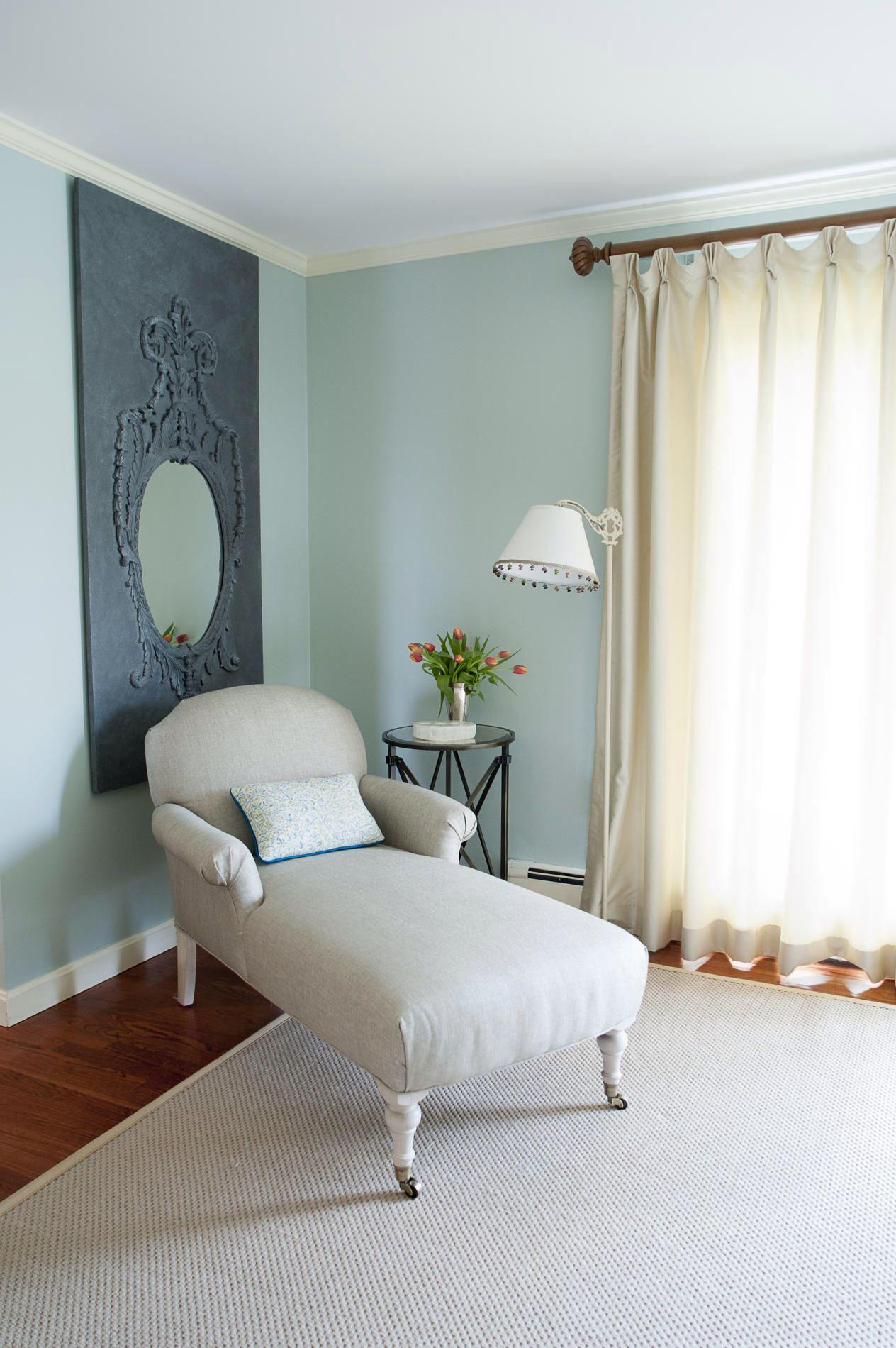 Benjamin Moore Palladium blue 1st floor paint color made in