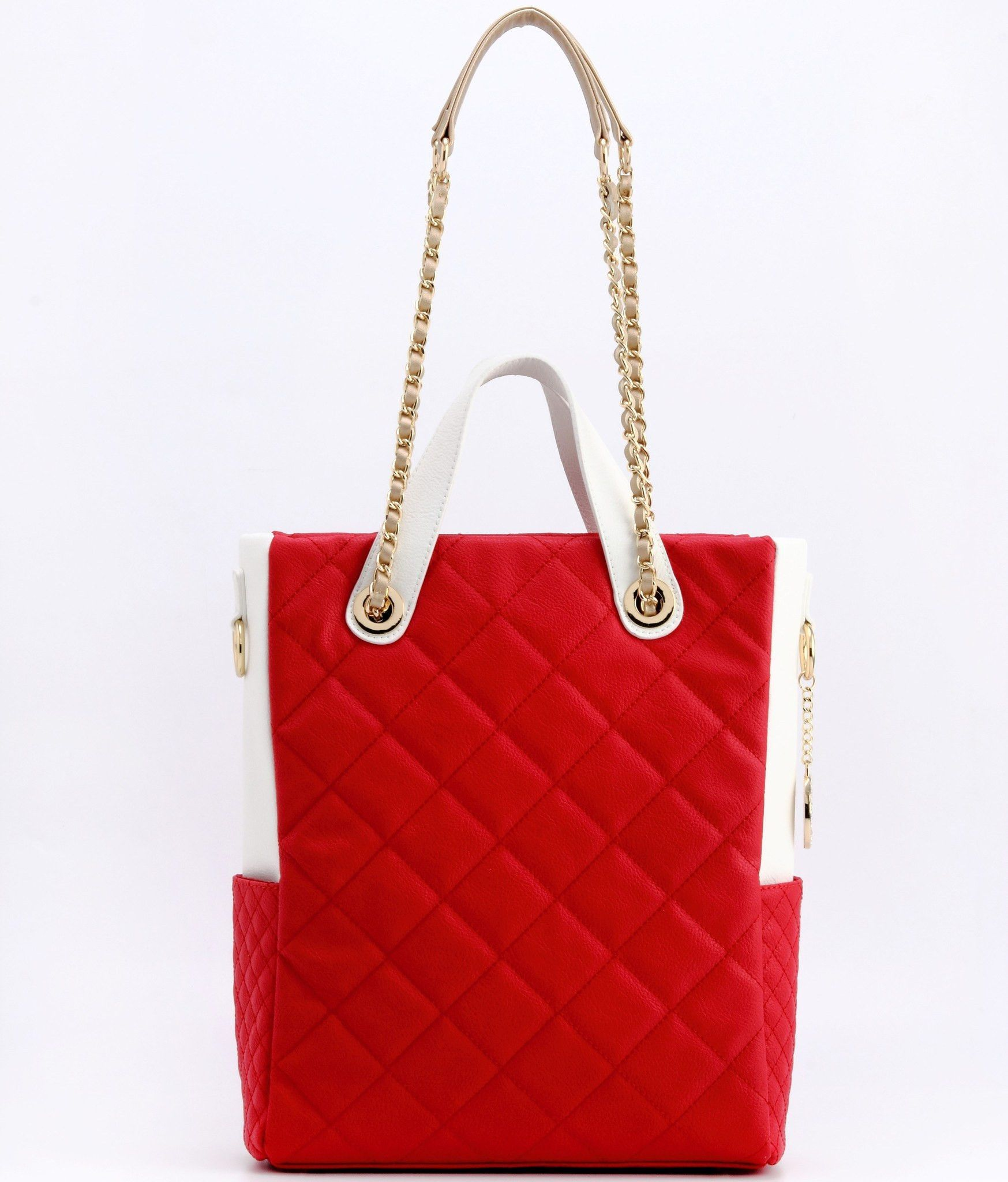 Travel Tote-Racing Red/White/Gold-Kathi