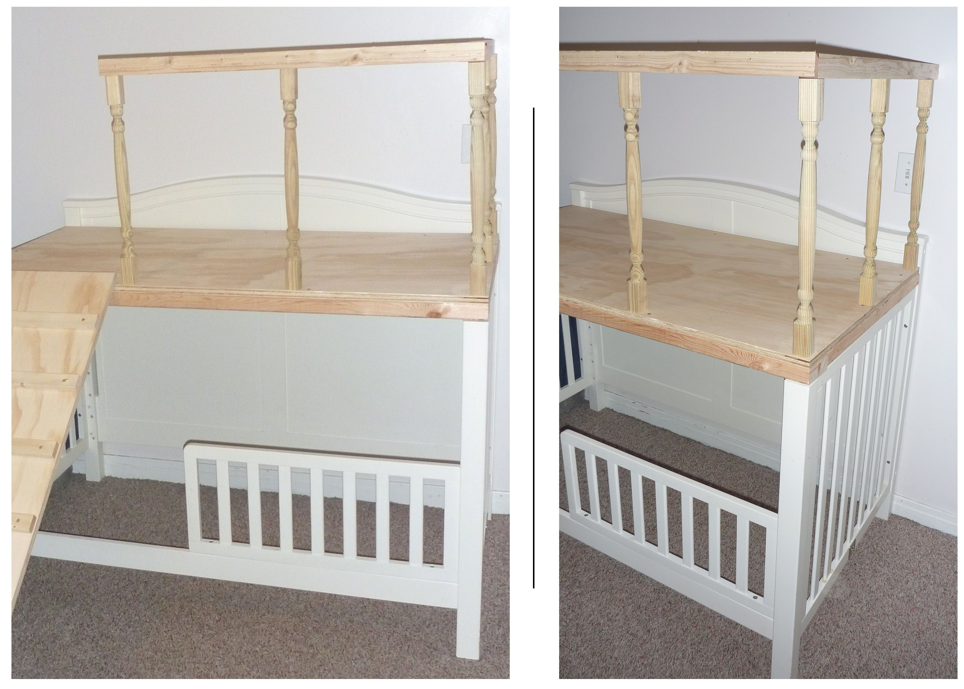 Convert A Crib To A Loft Play Area Maybe Reinforce The Frame A
