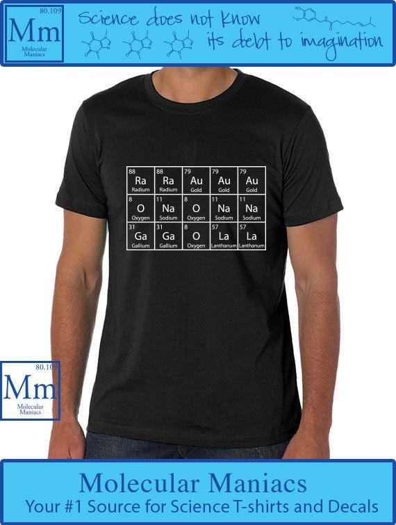 Periodic Shirt by MolecularManiacs on Etsy, $1800   #nerdfashion - best of periodic table joke au
