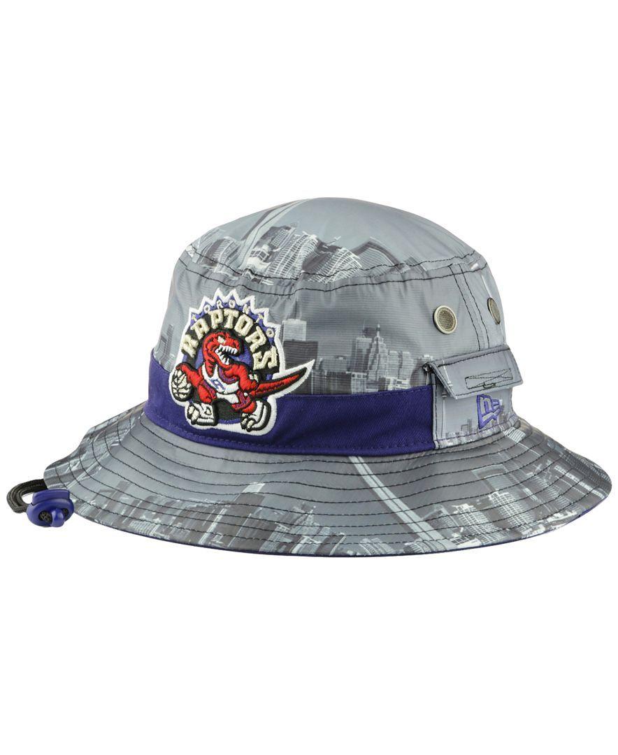 New Era Toronto Raptors Skyline Bucket Hat Hats Sports Fan Shop Bucket Hat